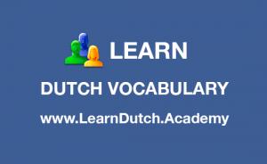 Learn Dutch Vocabulary